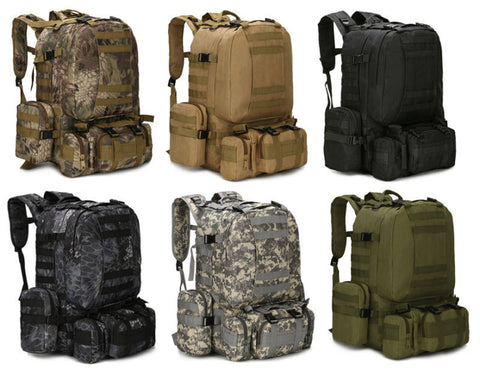 Tactical Bag - 55L Molle Outdoor Tactical Bag