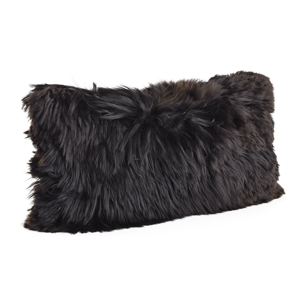 Black small Alpaca cushion