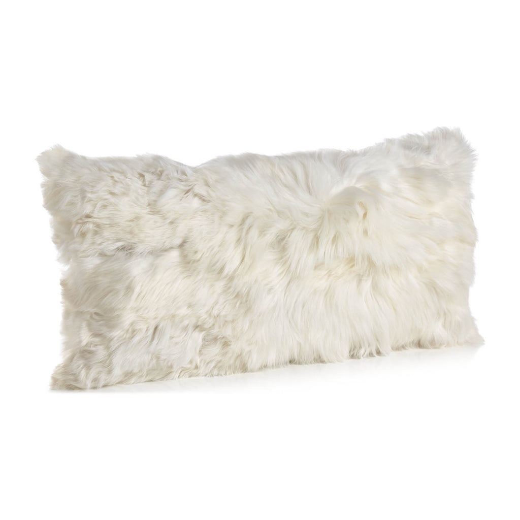 White small Alpaca cushion