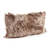 Taupe small Alpaca cushion