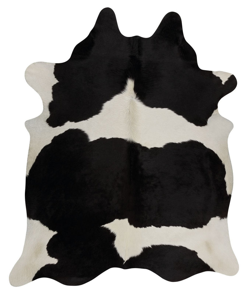 Black White cow hide rug