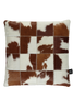 Brown and white Cow Hide leather cushions
