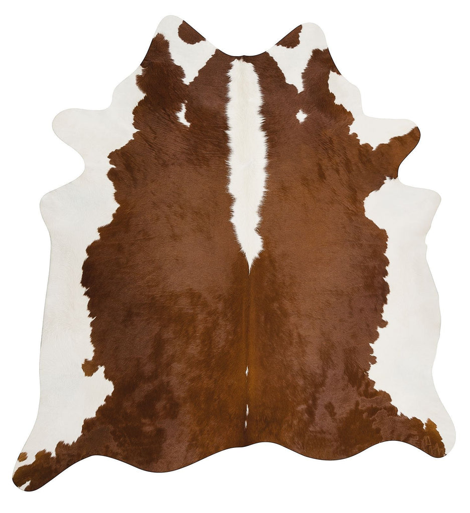 Brown White cow hide rug