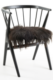 Black Icelandic Sheepskin Seat Covers long wool