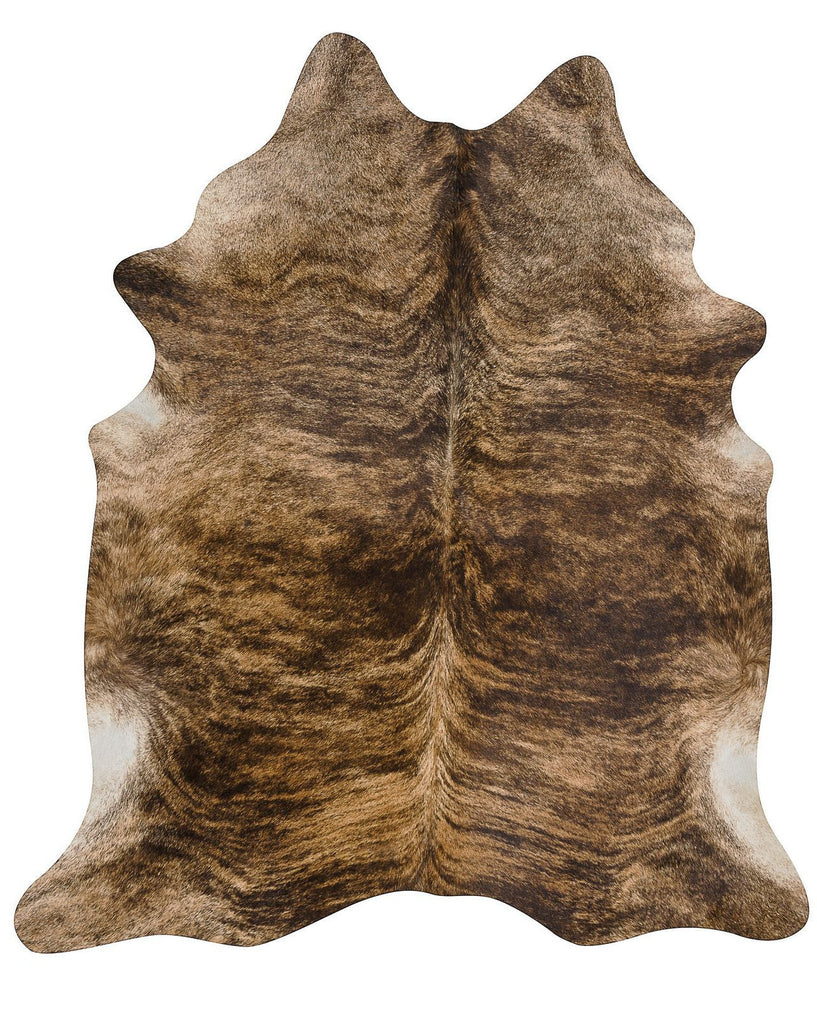 Exotic Dark cow hide rug