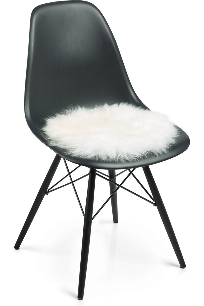 White New Zealand Sheepskin Seat Covers With Long Wool