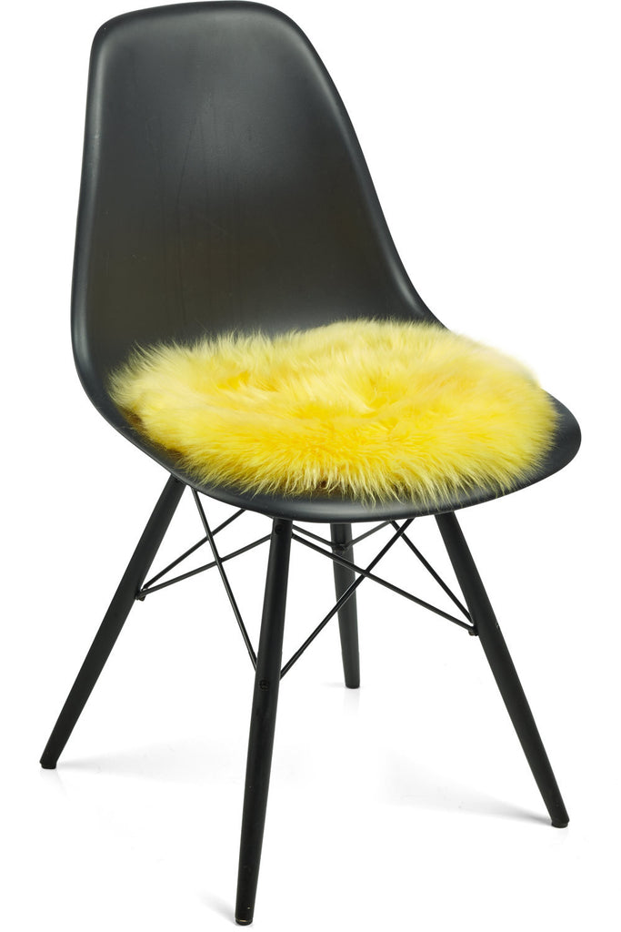 Yellow New Zealand Sheepskin Seat Covers With Long Wool
