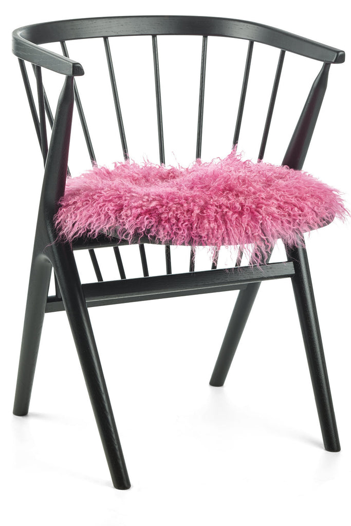 Pink Seat Covers of sheepskin from Tibet