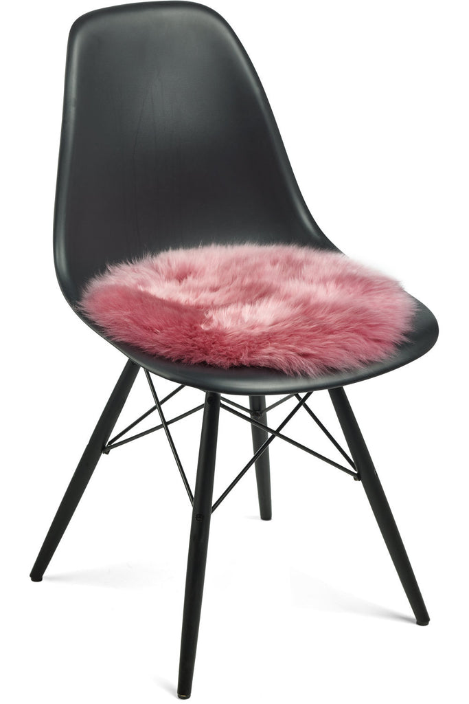 Pink New Zealand Sheepskin Seat Covers With Long Wool