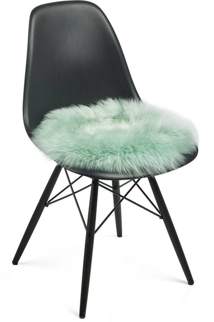 Light green New Zealand Sheepskin Seat Covers With Long Wool