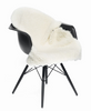 White Curly New Zealand sheepskin