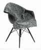 Graphite Curly New Zealand sheepskin