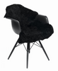 Black Curly New Zealand sheepskin