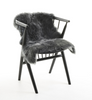 Steel New Zealand long wool sheepskin