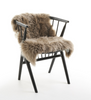 Taupe New Zealand long wool sheepskin