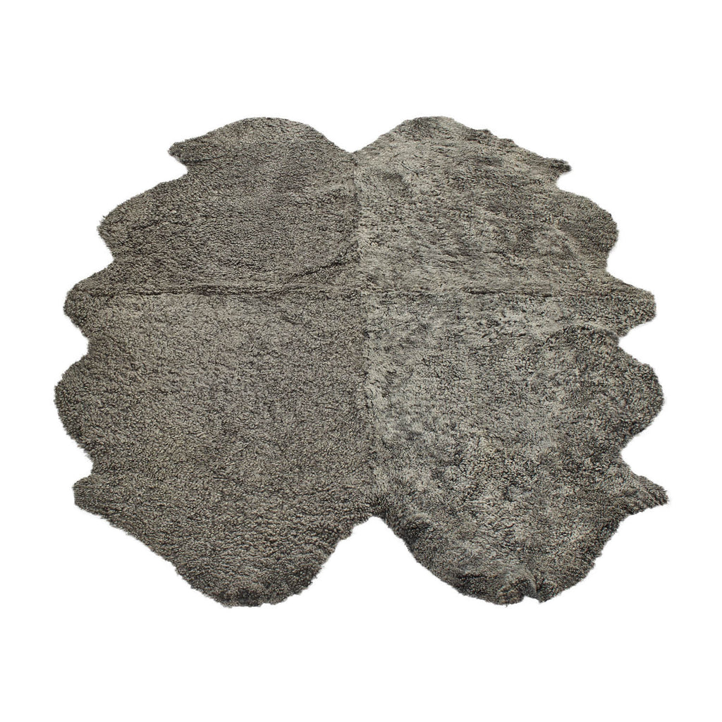 Graphite large sheepskin rug