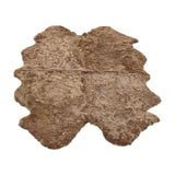 Taupe large sheepskin rug