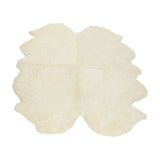 White large sheepskin rug