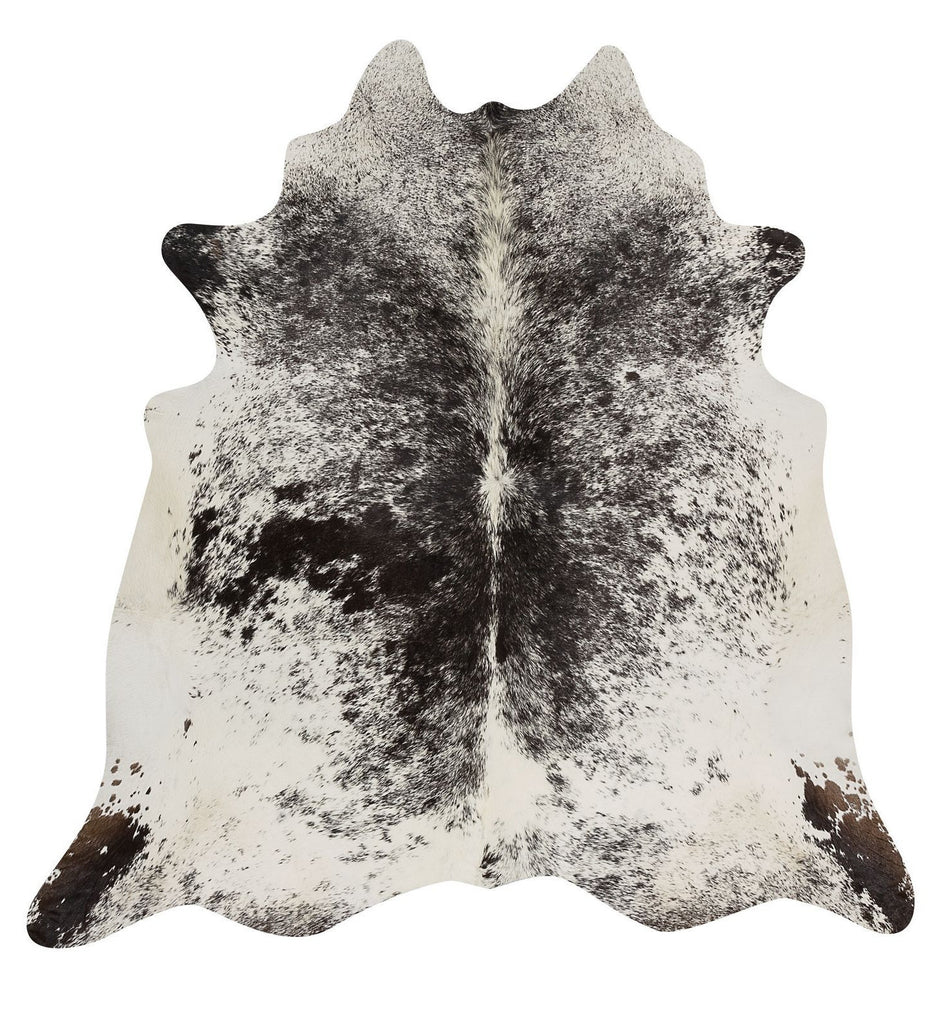 Black White Spottet cow hide rug