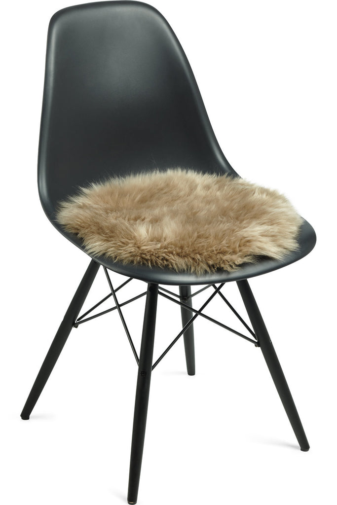 Taupe New Zealand Sheepskin Seat Covers With Long Wool