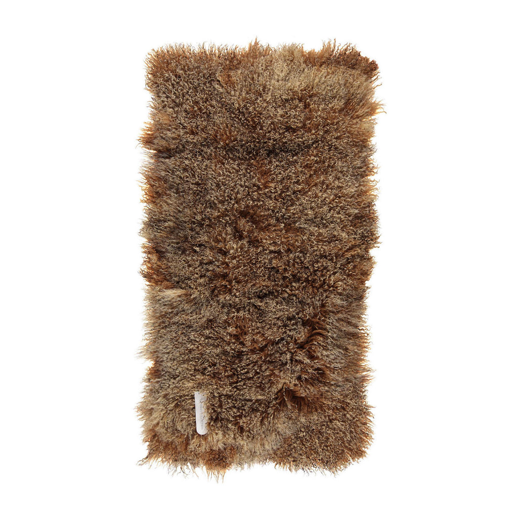 Brown Tibetan Sheepskin Plates