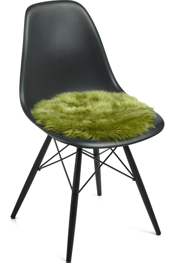 Green New Zealand Sheepskin Seat Covers With Long Wool