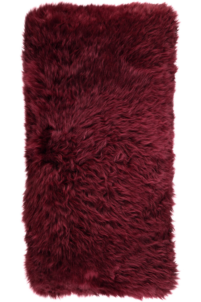 Burgundy Large New Zealand Sheepskin Cushions