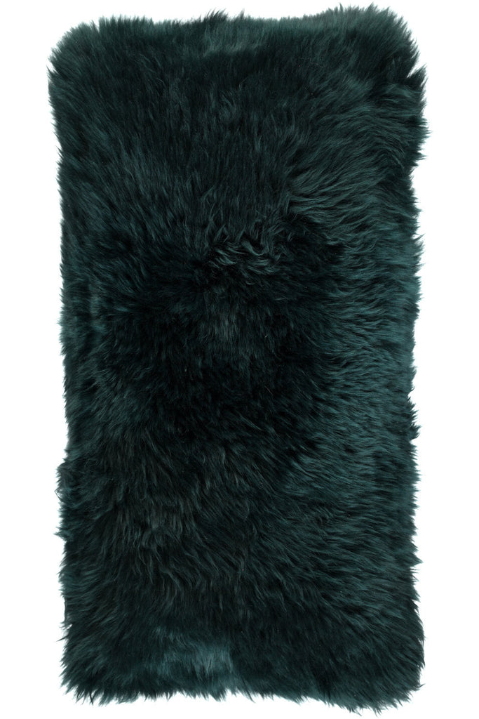 Dark green Large New Zealand Sheepskin Cushions