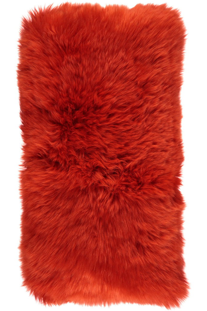 Red Large New Zealand Sheepskin Cushions