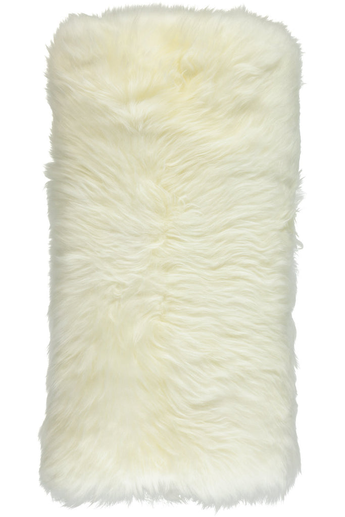 White Large New Zealand Sheepskin Cushions