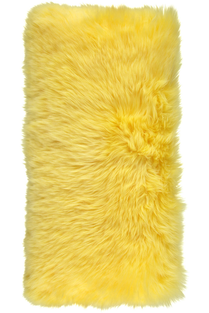 Yellow Large New Zealand Sheepskin Cushions