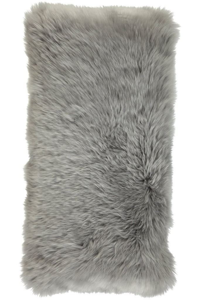 Light grey Large New Zealand Sheepskin Cushions