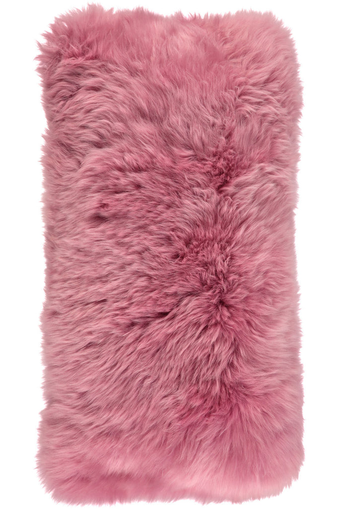 Pink Large New Zealand Sheepskin Cushions