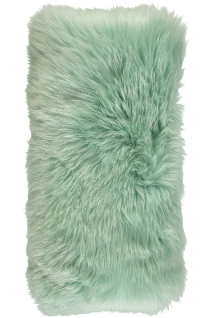 Light green Large New Zealand Sheepskin Cushions