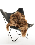 Brown Icelandic sheepskin long wool