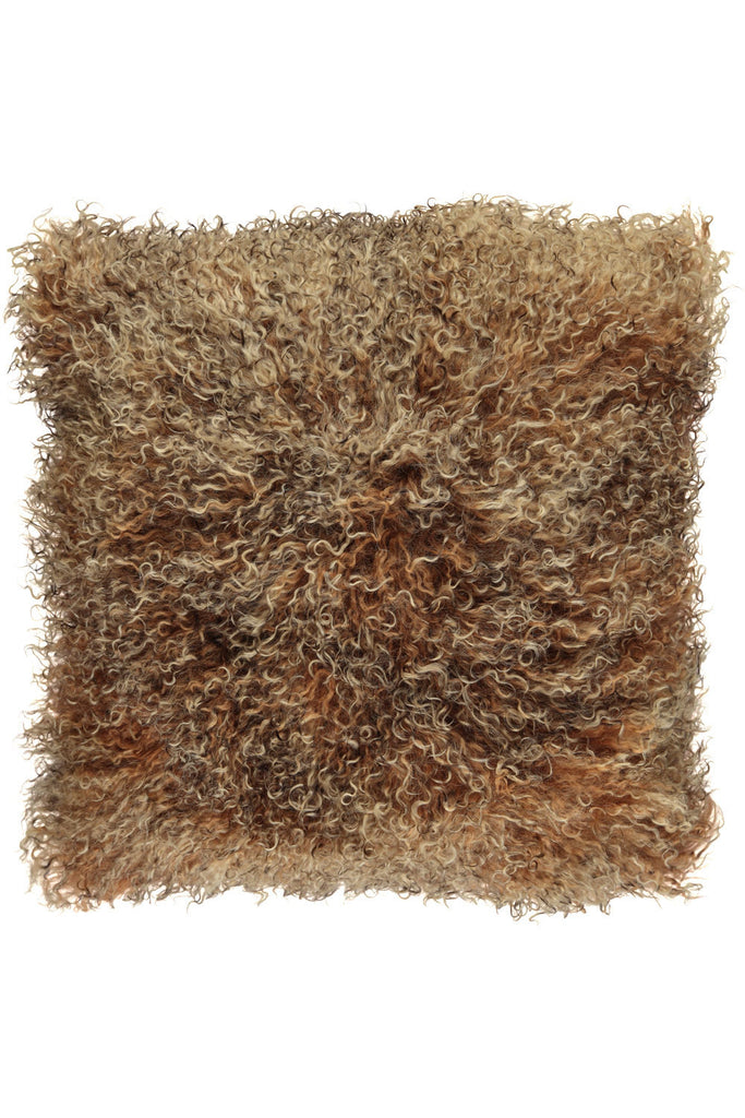 Brown Tibetan Sheepskin Cushions