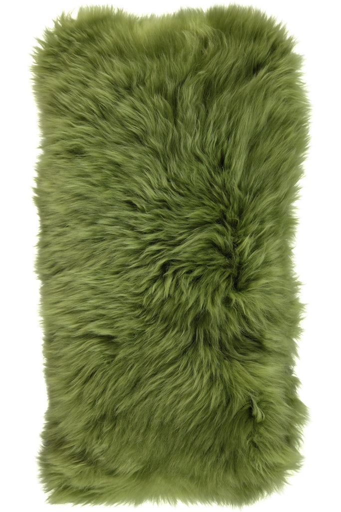 Green Large New Zealand Sheepskin Cushions