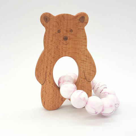 Wholesale Violet Marble Baloo Teether