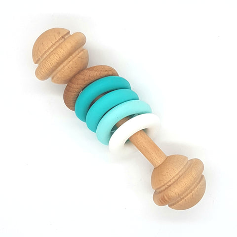 Teal & Turquoise Rings Vintage Rattle