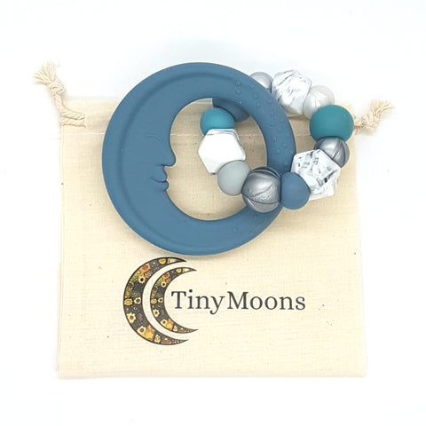 Storm Blue Man in the Moon Teether