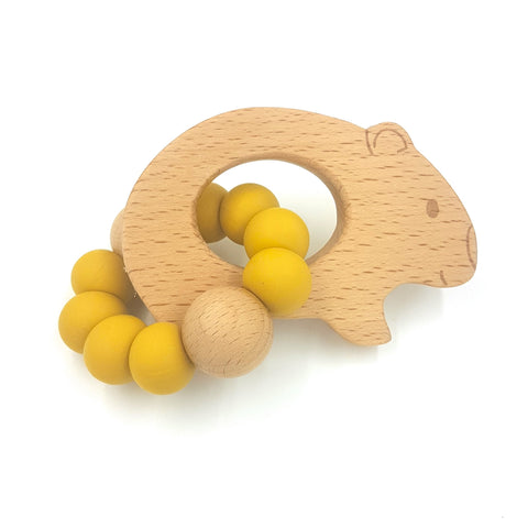 Wholesale Mustard Wombat Teether