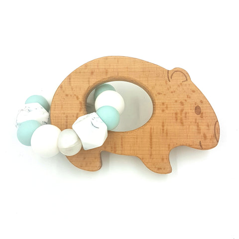 Wholesale Duck Egg Blue Wombat Teether