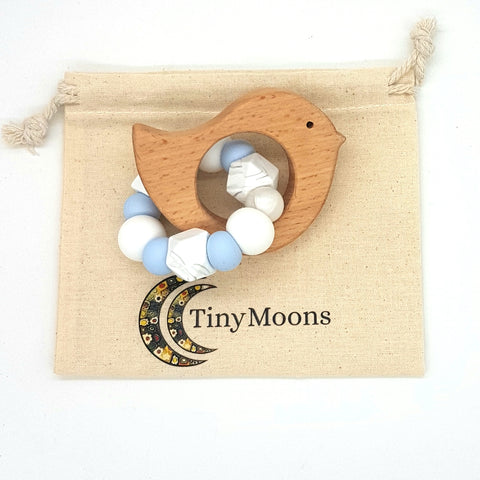 Baby Blue, Marble and Snow Teether