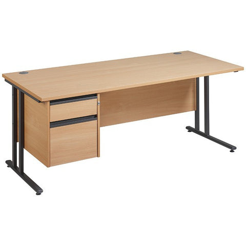 Maestro 25 GL Cantilever Desk with 1 or 2 Pedestals
