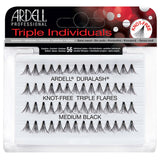 Ardell Duralash Knot Free Triple Flares - Medium Black