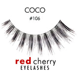 Red Cherry Lashes Style #106 (Coco)