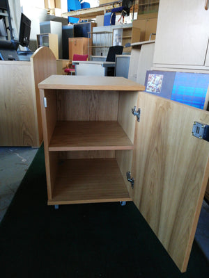 Oak under desk unit