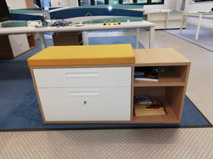 Under Desk Drawer/Storage Unit with Seat