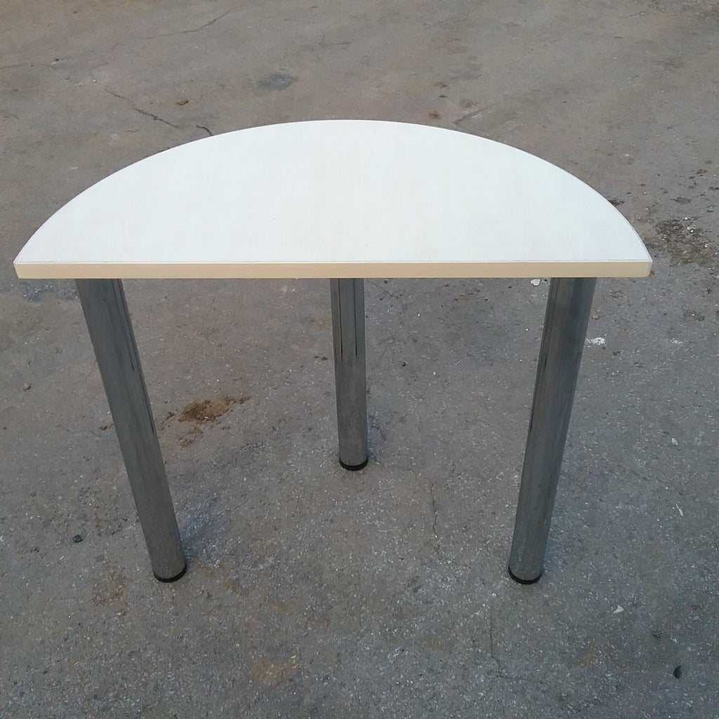 Small maple half moon side table