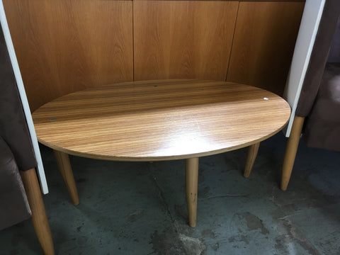 Small wood effect oval coffee table